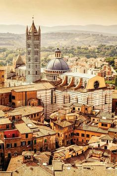 The medieval walled town of Siena ~ Italy. An incredible place and…