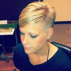 Image result for short hair buzzed sides female