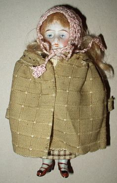 Sweet early 1900's bisque jointed doll.