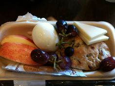 plan to recreate the pieces of sbux power protein plate (egg, grapes, apple slices, peanut butter, cheese slices, flat bread)