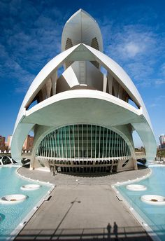The Palau de les Arts in Valencia.    Santiago Calatrava's Palau de les Arts Reina Sofia is one of the spectacular buildings to make up Valencia's City of Arts and Sciences.