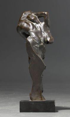 Auguste RODIN (1940 - 1917) - Petite étude pour Adam avec tête de femme , ca.1890