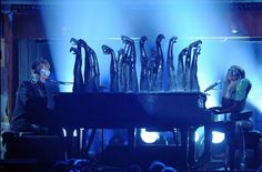 Elton John and Lady Gaga perform at the 52nd Annual GRAMMY Awards on Jan. 31 at Staples Center in Los Angeles