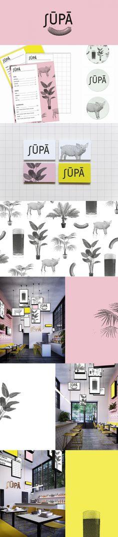 Supa cafe and bar branding by KittoKatsu GmbH | Fivestar Branding Agency – Design and Branding Agency & Curated Inspiration Gallery  #bar #cafe #restaurants #branding #design #identity #interiordesignideas #illustration #behance #pinterest #dribbble #fivestarbranding