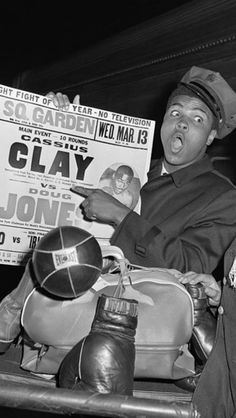 Muhammad Ali (once known as Cassius Clay)