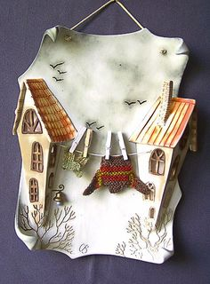 This Pin was discovered by Inn Clay Wall Art, Ceramic Wall Art, Ceramic Clay, Clay Art, Ceramic Pottery, Slab Pottery, Ceramic Bowls, Paper Mache Crafts, Clay Crafts