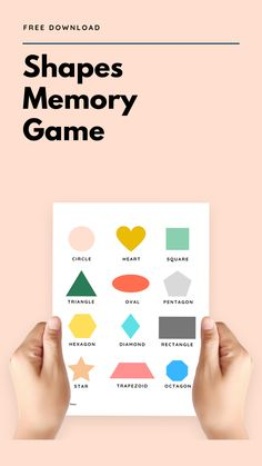 Let the giggles abound! Our Shapes memory game (and poster!) is back in stock and the digital version is 100% FREE for a limited time only! Get it here. Memory Games, Kindergarten Math, 100 Free, Homeschooling, Printables, English, How To Get, Shapes, Memories