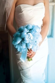 Blue peonies... Would be perfect if only you could find them somewhere
