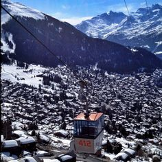 View from Tommy's Chalet in Verbier