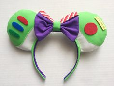 To infinity and beyond! This listing is for one (1) pair of Buzz Lightyear inspired Mickey ears. These ears are Made to Order; please see my