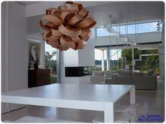 LZF | Agatha Ball | Agata sospensione di design in legno naturale. #WoodLighting #WoodLamps #LZF #design