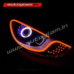 Custom Modified headlights for Hyundai Verna Porsche Style. Custom Headlights, Projector Headlights, Car Headlights, Hidden Projector, Hyundai Cars, Bmw Logo, Car Accessories, Porsche, Auto Accessories