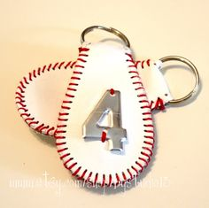 The Original Baseball Keychain genuine leather by ByStudio13, $8.00