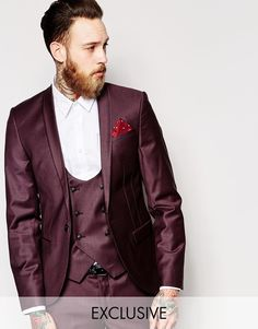 77ddb7e6a2145 Noose Monkey Noose Monkey Suit Jacket With Shawl Lapel In Super Skinny Fit