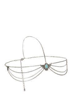 Thunderbird Headwrap   FOREVER21 Festival ready #Accessories #Chain #Gemstone