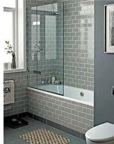 TILE SAMPLES: New York Flat Warm Grey Gloss Metro Bathroom Wall Tiles 10 x 20cm