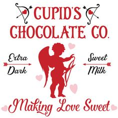 Silhouette Design Store - View Design #171721: cupid's chocolate company