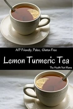 Lemon Turmeric Tea Drink this Lemon Turmeric Tea every morning on an empty stomach for maximum benefits! I call it my flu shot in a mug! Drink several times a day if you are feeling a little under the weather. Helps to sooth sore throats, reduce cold Homemade Cough Syrup, Turmeric Drink, Sooth Sore Throat, Turmeric Health Benefits, Ginger Benefits, Flu Symptoms, Mama Recipe, Lower Blood Sugar, Herbalism