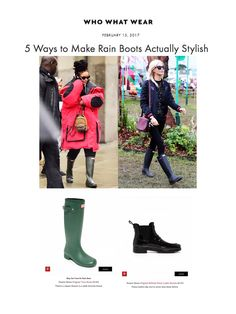 The Original Tall Boot & The Original Refined Penny Loafer featured on WhoWhatWear.com
