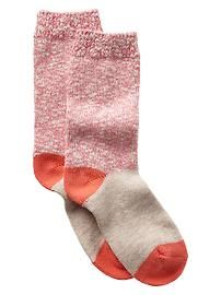 Cozy colorblock socks from gap