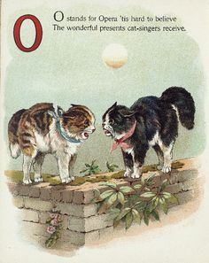 "Letter ""O"" (from ""Cats and kittens ABC"", Father Tuck's Nursery Tales series, 1890s)"