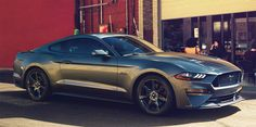 Ford Mustang sports car received a new exterior design changes and became more powerful.Visually updated Ford Mustang can be distinguished by a co Ford Mustang Bullitt, 2018 Mustang Gt, Neuer Ford Mustang, Ford Mustang Price, Mustang Cars, Affordable Sports Cars, Cool Sports Cars, Automobile, Autos