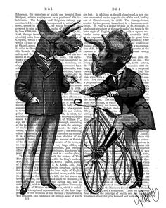 'Well, i say my good sir' #Triceratops Men, What Kind of Mileage... #Dinosaurs Book Print