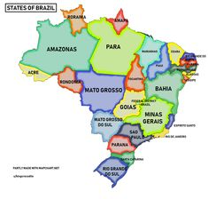Map of brazil south american countries brazil information maps states of brazil gumiabroncs Image collections