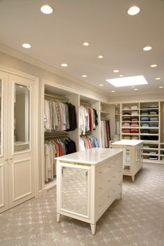 Closet: Mirrored cabinets (great for seeing your shoes!)