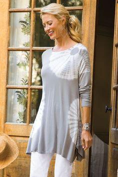 Tie Dye Tunic - Patterned Tunic, High-low Hem Tunic   Soft Surroundings