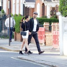 David Gandy in London on April 22, 2016, with his new love Stephanie Mendoros.