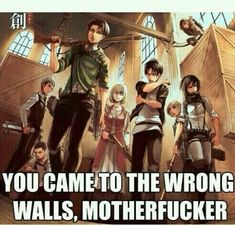 Levi, eren, and mikasa look beast, dem be like let's do this shit