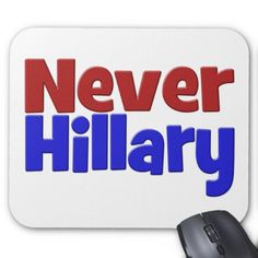 Never Hillary Mouse Pad, red & blue Mouse Pad