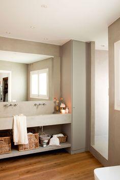 Amazing And Gorgeous Bathroom Decoration Ideas You Must Love; Gorgeous Bathroom, Rustic Bathroom Remodel, Bathroom Cabinets Diy, Bathroom Shower Doors, Simple Bathroom, Bathroom Renovations, Bathroom Storage Shelves, Rustic Remodel, Bathroom Decor