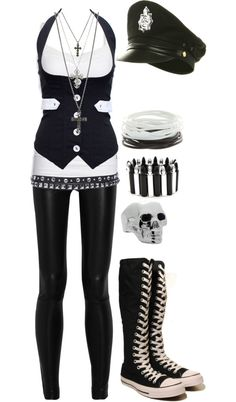 """Untitled #583"" by bvb3666 on Polyvore.    Not the hat though... and maybe not the ring"