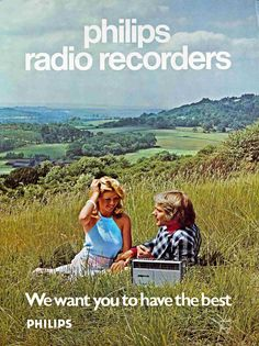 Vintage ad for the Philips radio recorder.