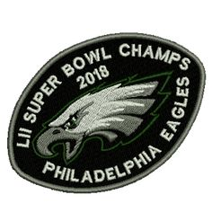 Looking for biker, custom embroidered patches, custom vinyl decals and stickers? Custom Embroidered Patches, Custom Vinyl, Philadelphia Eagles, Iron On Patches, Champs, Super Bowl, Vinyl Decals, Free Shipping, This Or That Questions