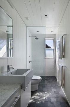 high ceilings narrow decorators white bathroom - Google Search