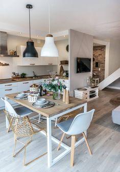 decordemon: Cozy house in Poland by architecture studio Shoko design - Interior Ideas Home Interior, Kitchen Interior, Kitchen Decor, Interior Design, Kitchen Layout, Küchen Design, House Design, Design Ideas, Modern Design