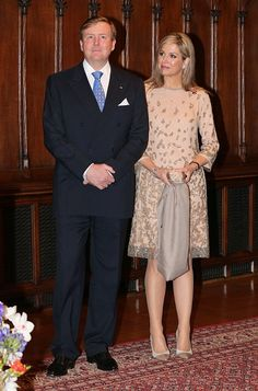 King Willem-Alexander And Queen Maxima Of The Netherlands Visit Bavaria - Day 1 on April 13, 2016 in Munich, Germany