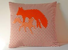 Lovely foxy cushion