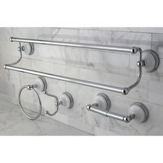 kingston brass victorian 4 piece polished chrome bathroom accessory set polished chrome silver