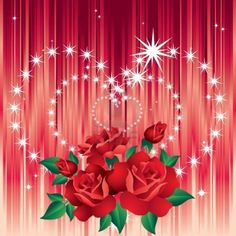 stars and hearts and roses - Coloring Pages Hearts Stars