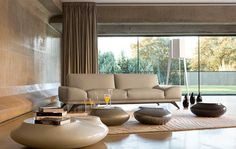Living Room Inspiration-interesting tables...feel of being in the open outdoors