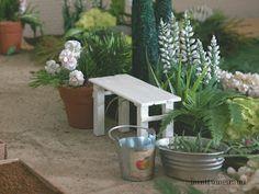 minttumeiramin miniatyyrit: Penkki potageriin - 15 min - A bench in 15 min