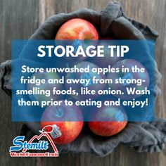 How do you store your apples? 🍎 Fruit Facts, Fruit Nutrition, Apples, Food Ideas, Eat, Store, Tips, Larger, Apple