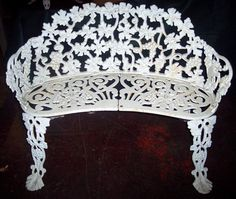 Lot 167 Wrought Iron Garden Bench Mclaren Auction Services