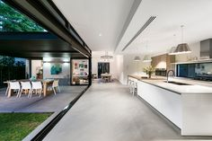 41 Keightley Road Shenton Park WA 6008 - House for Sale Modern Kitchen Design, Modern House Design, Open Plan Kitchen Living Room, Open Living Area, Open Kitchen, Küchen Design, Home Interior Design, Kitchen Interior, Building A House