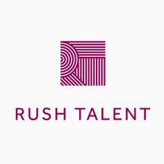 Logo designed by Bunch for London based public relations company Rush Talent.
