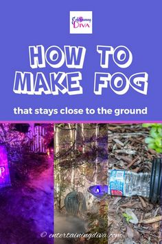 Want to make your Halloween front yard graveyard extra scary? Here's an awesome solution - easy Halloween fog that stays low to the ground and is super inexpensive. This easy DIY Halloween outdoor decor will definitely make that scary atmosphere!